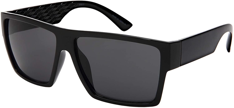 Edge I-Wear Unisex Vintage Retro Rectangular Sunglasses for Men Women Driving Fishing UV Protection