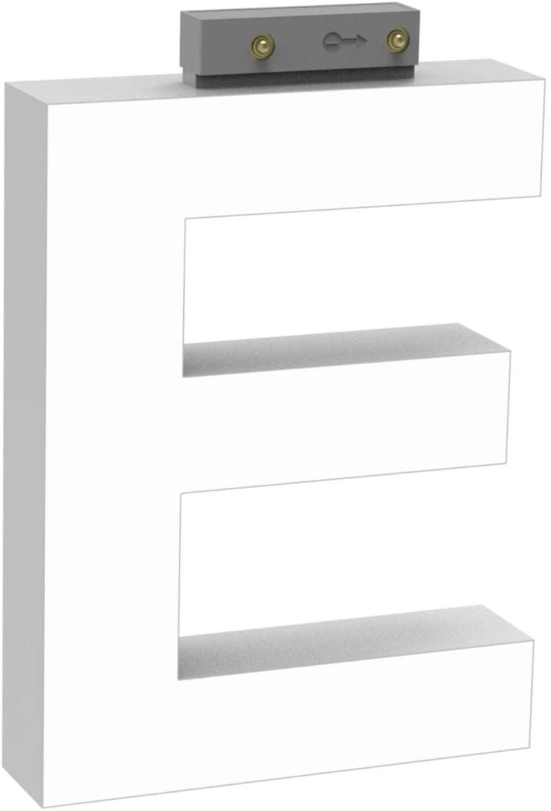 LED Track Light, 100MM LED Letter Signs, Quickly Mixed Commercial LED Alphabet Letter Light in DC 12V Electrified Track, LED Light Letter with CCT 6500K LED Track Light for Shop/Store - Letter E