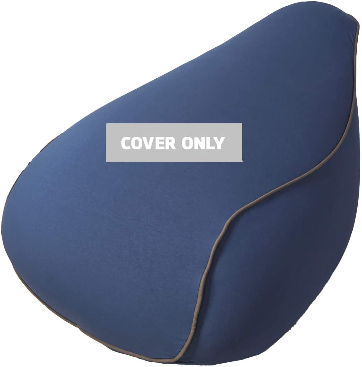 Yogibo Lounger Bean Bag Replacement Cover, Removable, Washable, Blue