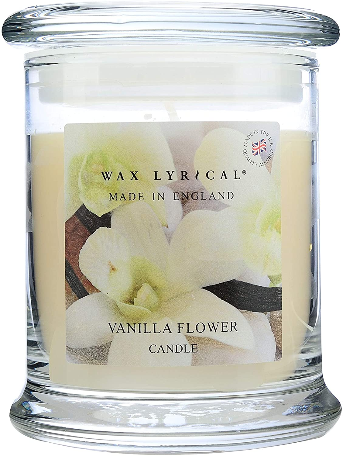 Wax Lyrical Wax Filled Vanilla Flower Scented Candle Jar - Made in England
