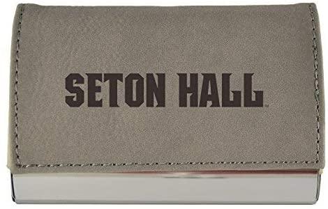 LXG, Inc. Velour Business Cardholder-Seton Hall University-Grey