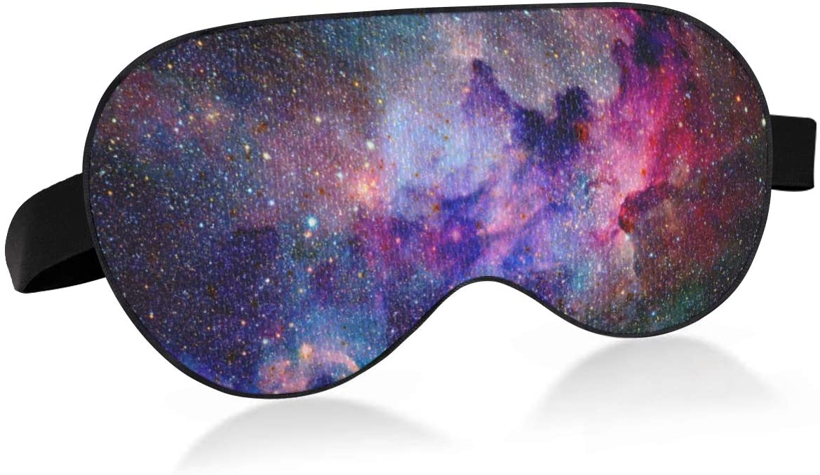 ALAZA Galaxy and Nebula in Space Sleep Mask for Women Men Blackout Cooling Funny Eye Mask for Sleeping with Elastic Strip