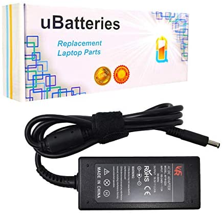 UBatteries Compatible 45W AC Adapter Charger Replacement for Dell Inspiron 13 7347 7348 7378 0JT9DM 0RFRWK 312-1307 - 19.5V