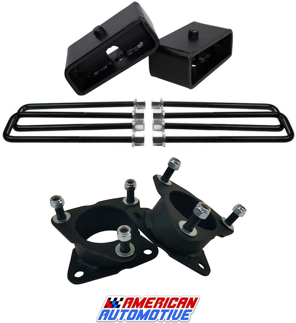 American Automotive Front and Rear Leveling Lift Kit for Chevy Silverado GM Sierra 2WD 4WD Road Fury Series (2.5 front + 1.5 rear lift)