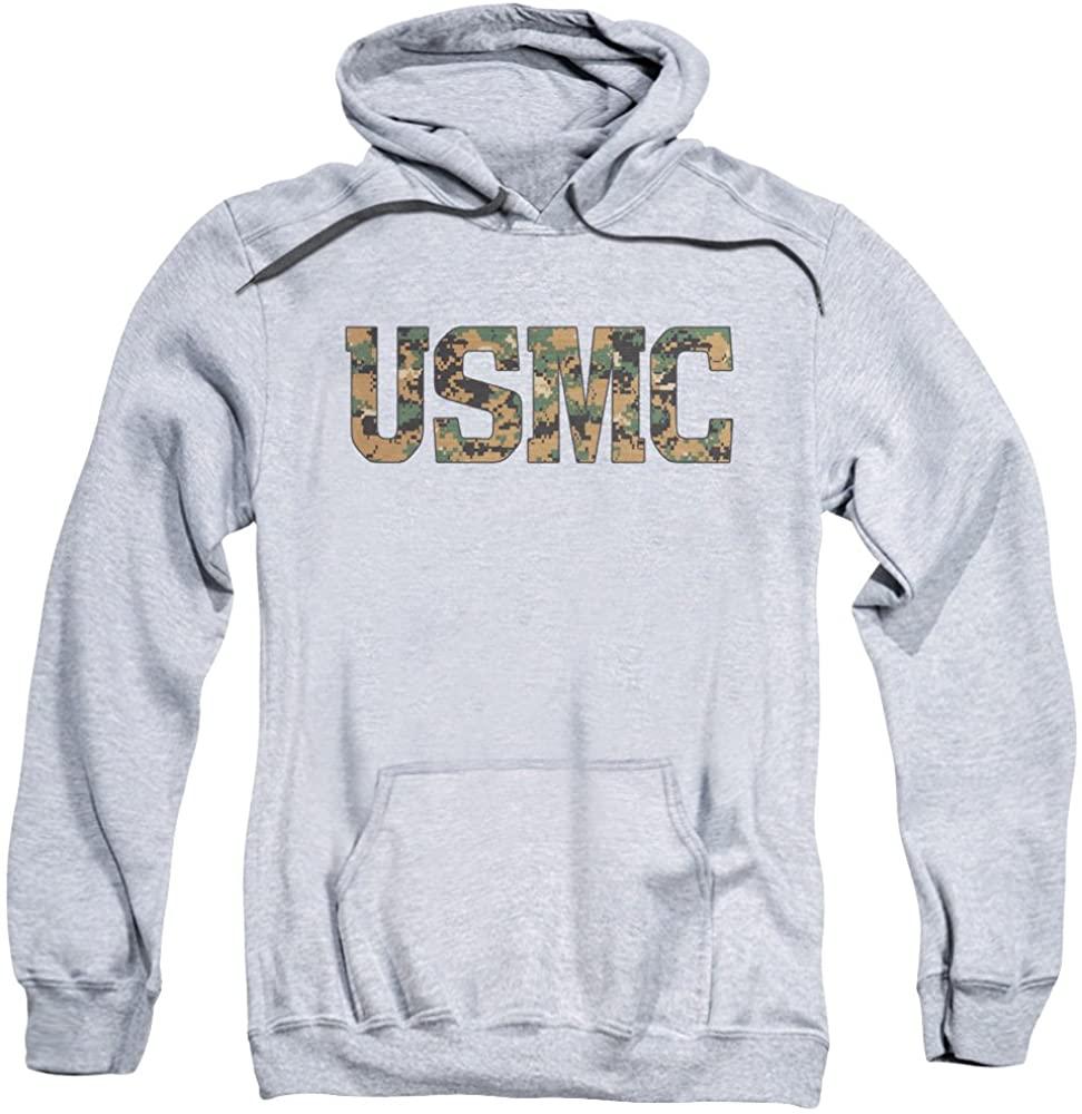 A&E Designs US Marine Corps USMC Camo Logo Heather Adult Hoodie Hoody