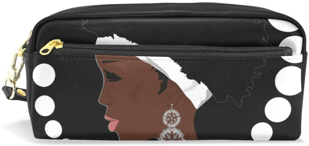 Pencil Case Big Capacity Pencil Bag Makeup Pen Pouch Glamour African Woman Durable Students Stationery Pen Holder for School/Office