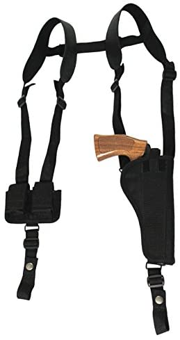 Barsony New Vertical Shoulder Holster w/Speed-Loader Pouch for 6