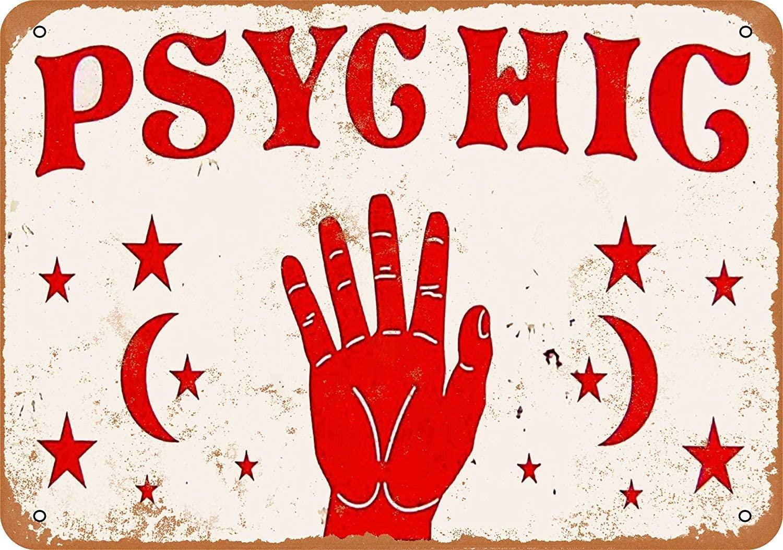Psychic 20cmx30cm Retro Vintage Tin Sign