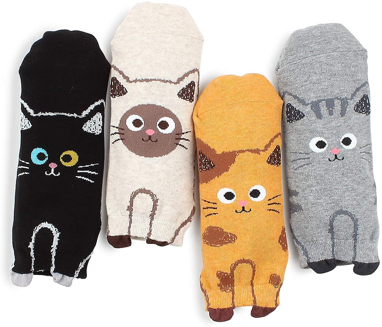 Cute cat prints socks kitten paw socks meow