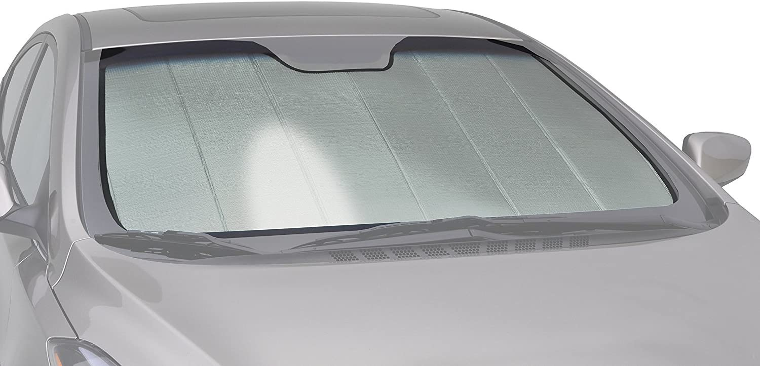 Intro-Tech Automotive IN-40-P Silver Custom Fit Premium Folding Windshield Sunshade for Select Infiniti Q40 Models