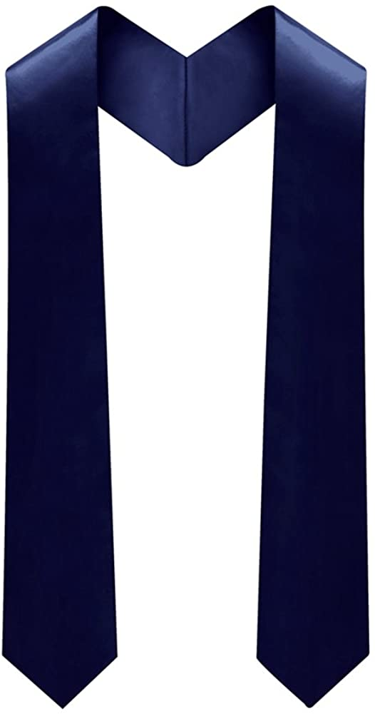lescapsgown Adult Plain Graduation Stole 60'' long