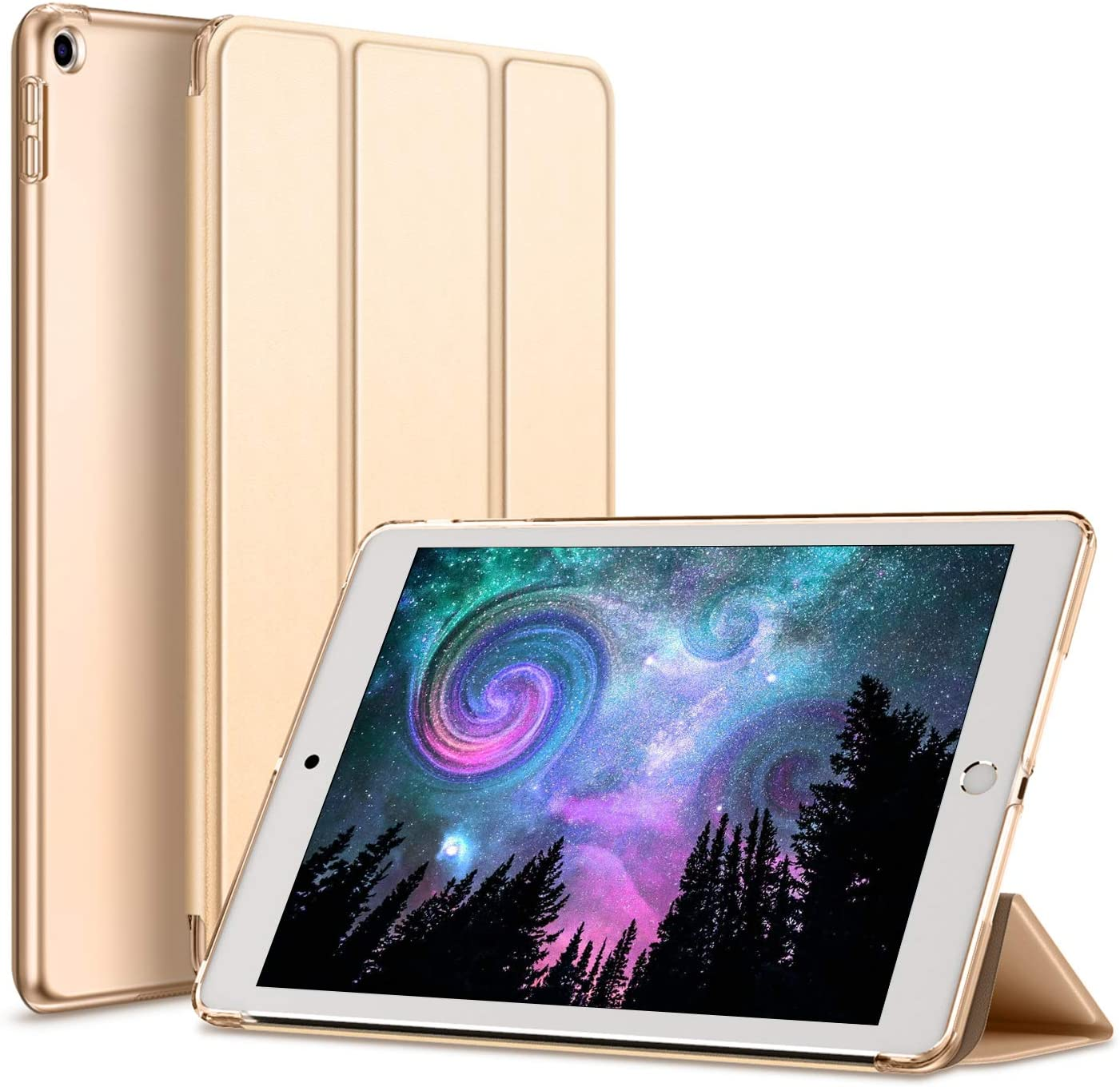 kenke iPad Case 9.7 Inch 2017/2018 5th/6th Generation,Slim Lightweight Smart Shell Stand Cover with Translucent Frosted Back,Auto Sleep/Wake for iPad 5th/6th Generation A1822, A1823, A1893, A1953-Gold