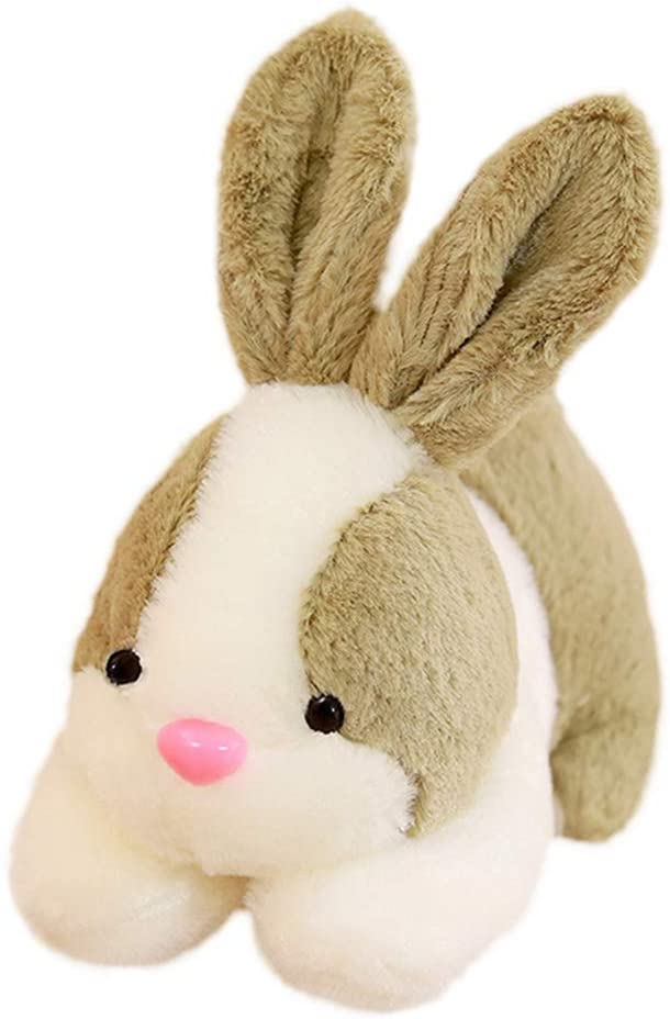 Amosfun Stuffed Soft Rabbit Toy Lovely Bunny Doll Plush Animal Toys Easter Gift for Kids