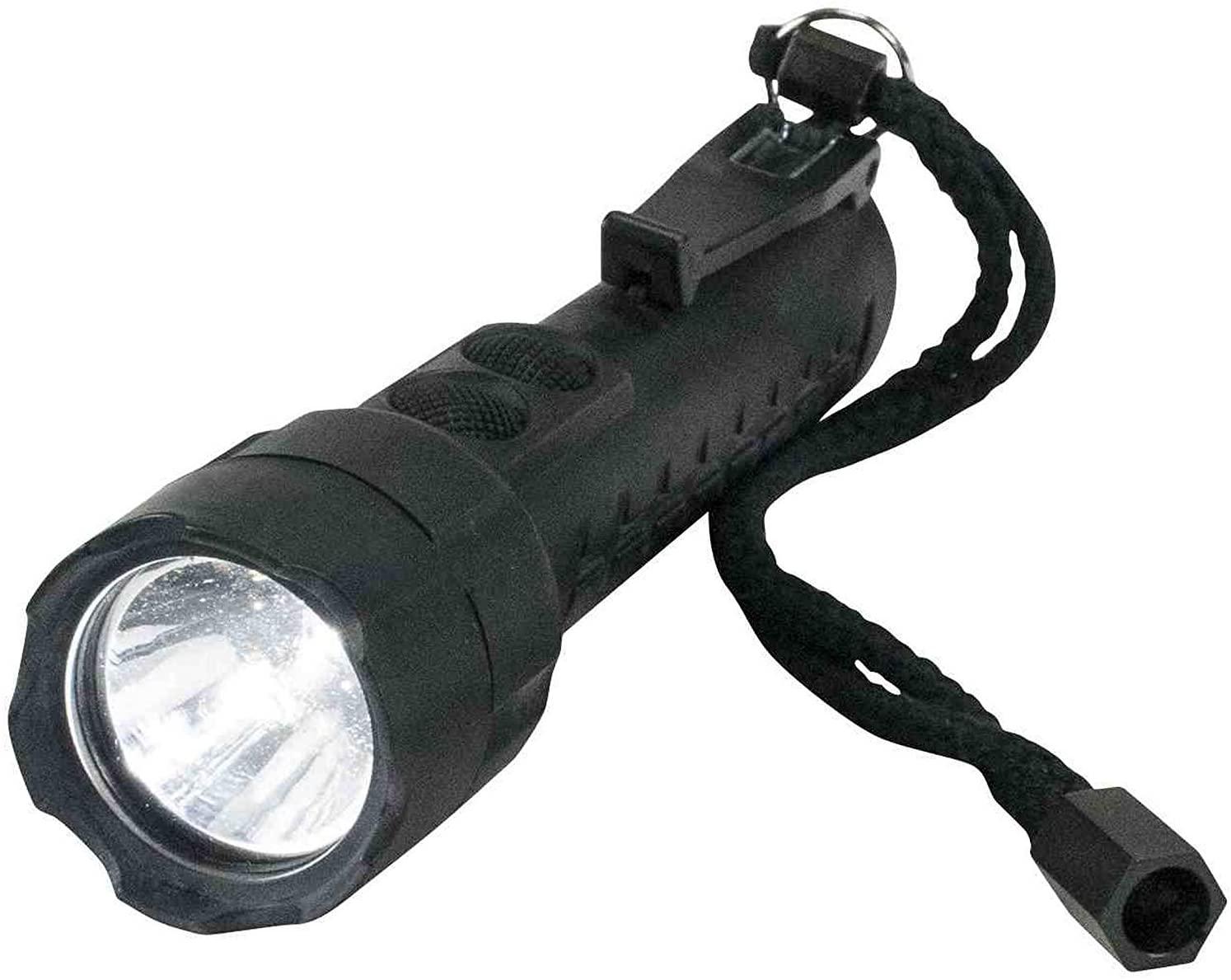 Intrinsically Safe - Dual Beam- LED Flashlight - Push Button Switch - 240 Lumens