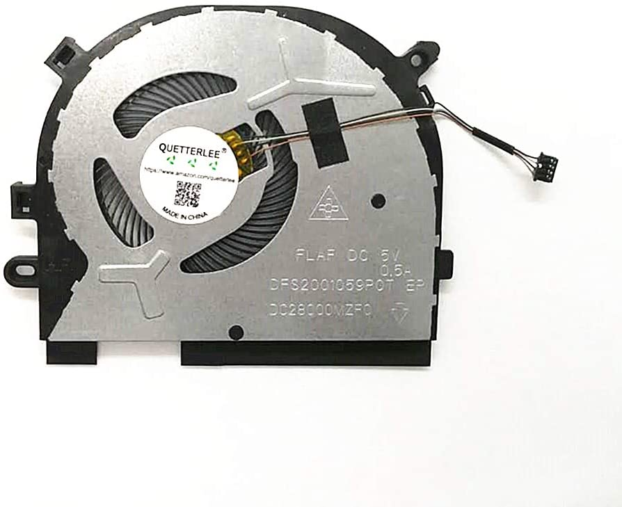 QUETTERLEE Replacement New CPU Cooling Fan for IdeaPad S340-15API C340-15IWL FLEX-15IWL Series DFS2001059POT FLAF Fan