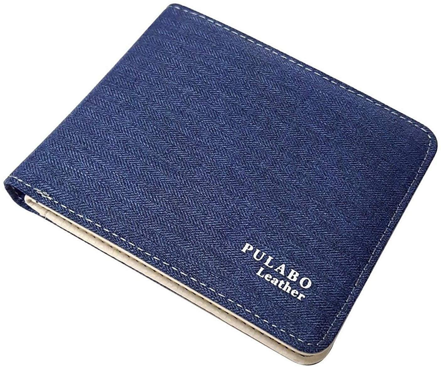 New Mens Leather Bifold Wallet ID Card Holder Coin Pocket Thin Pulabo Purse