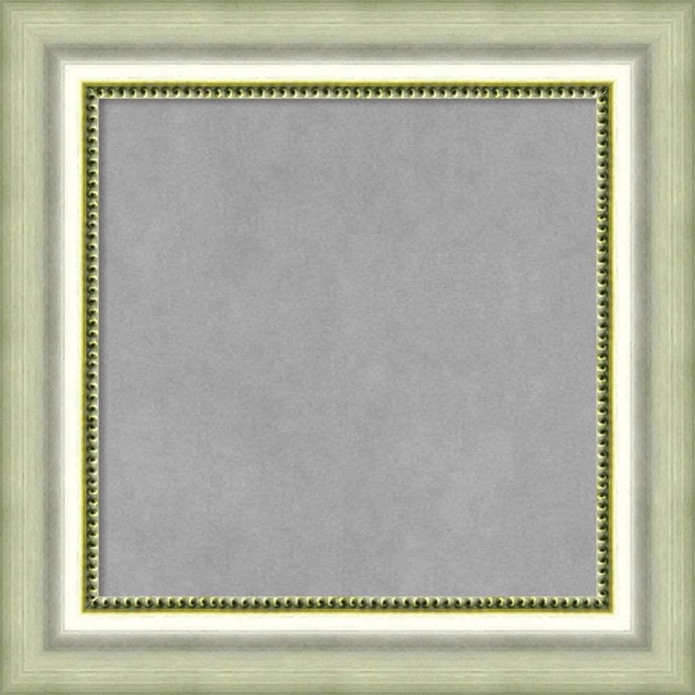 Framed Magnetic Board Bulletin Board | Magnet Board Vegas Silver Frame| Framed Magnetic Boards | 18.75 x 18.75