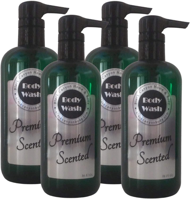 Black Canyon Amber & Sandalwood Scented Body Wash (4 Pack)