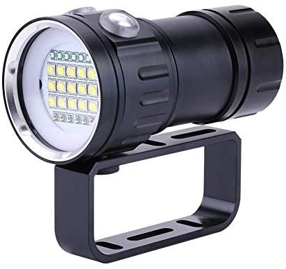 Boquite Dive Light, Micrometer Measuring Tool,Vernier Caliper Outdoor 500M Flashlight Waterproof Lamp Light Underwater