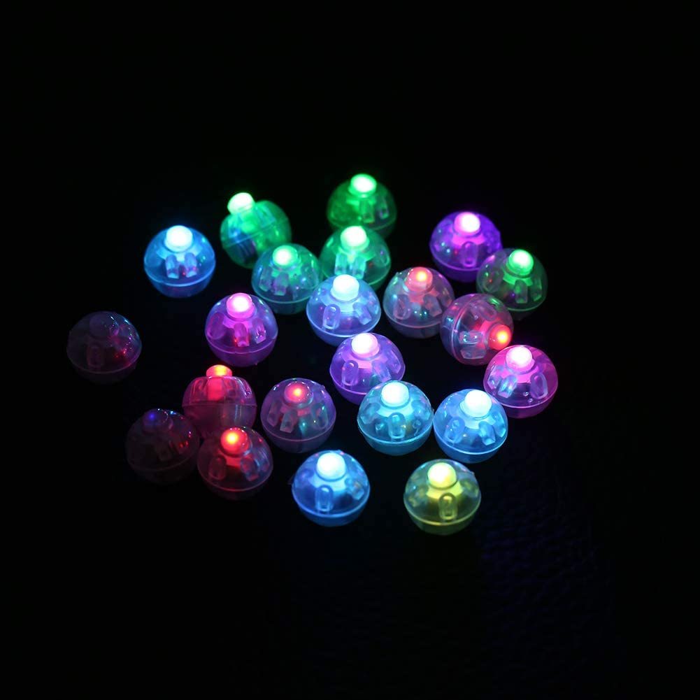 100Pcs/lot Round Flash Ball Lamps Balloon Lights Home Christmas Wedding Party Decor