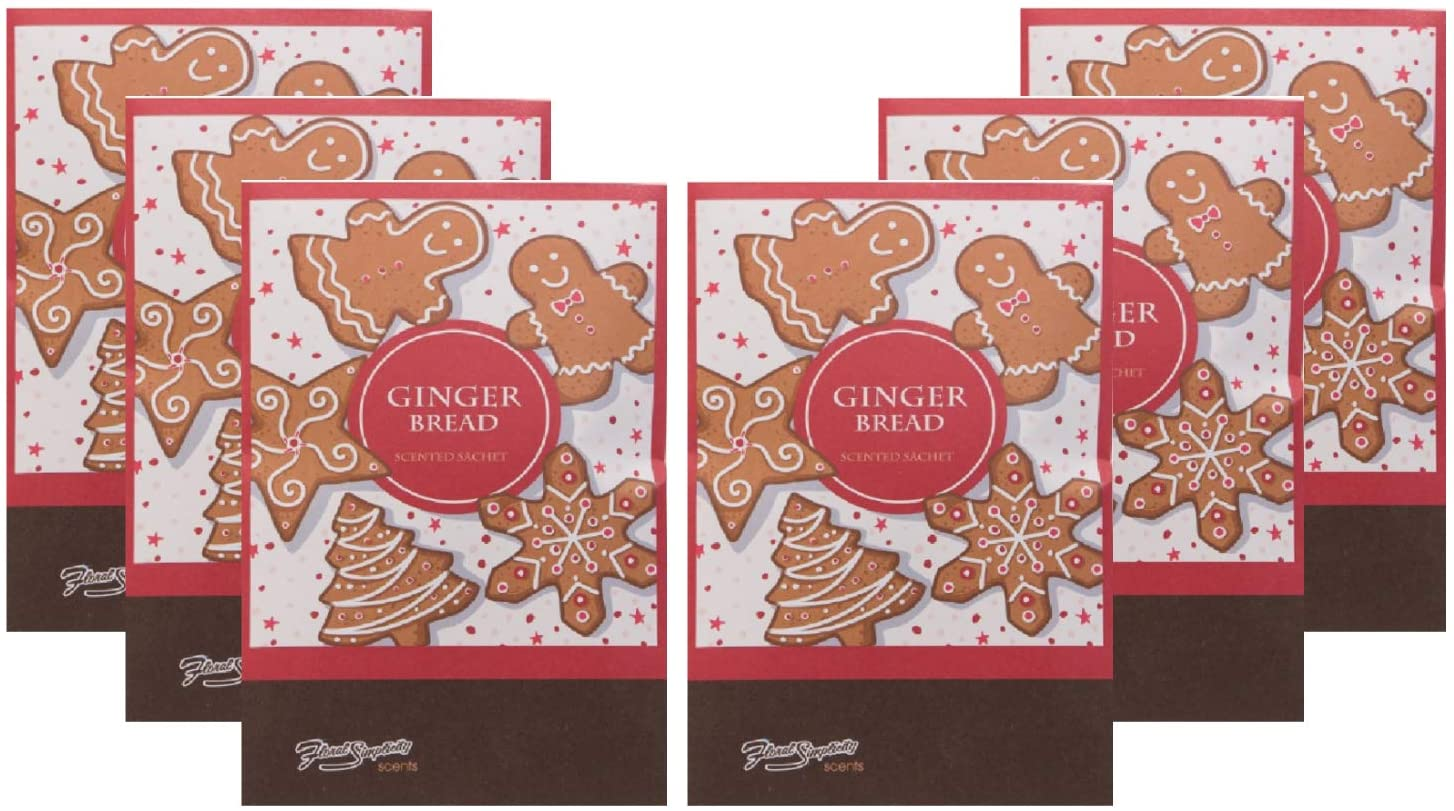 FloralSimplicity Gingerbread Scented Sachets Pack of 6