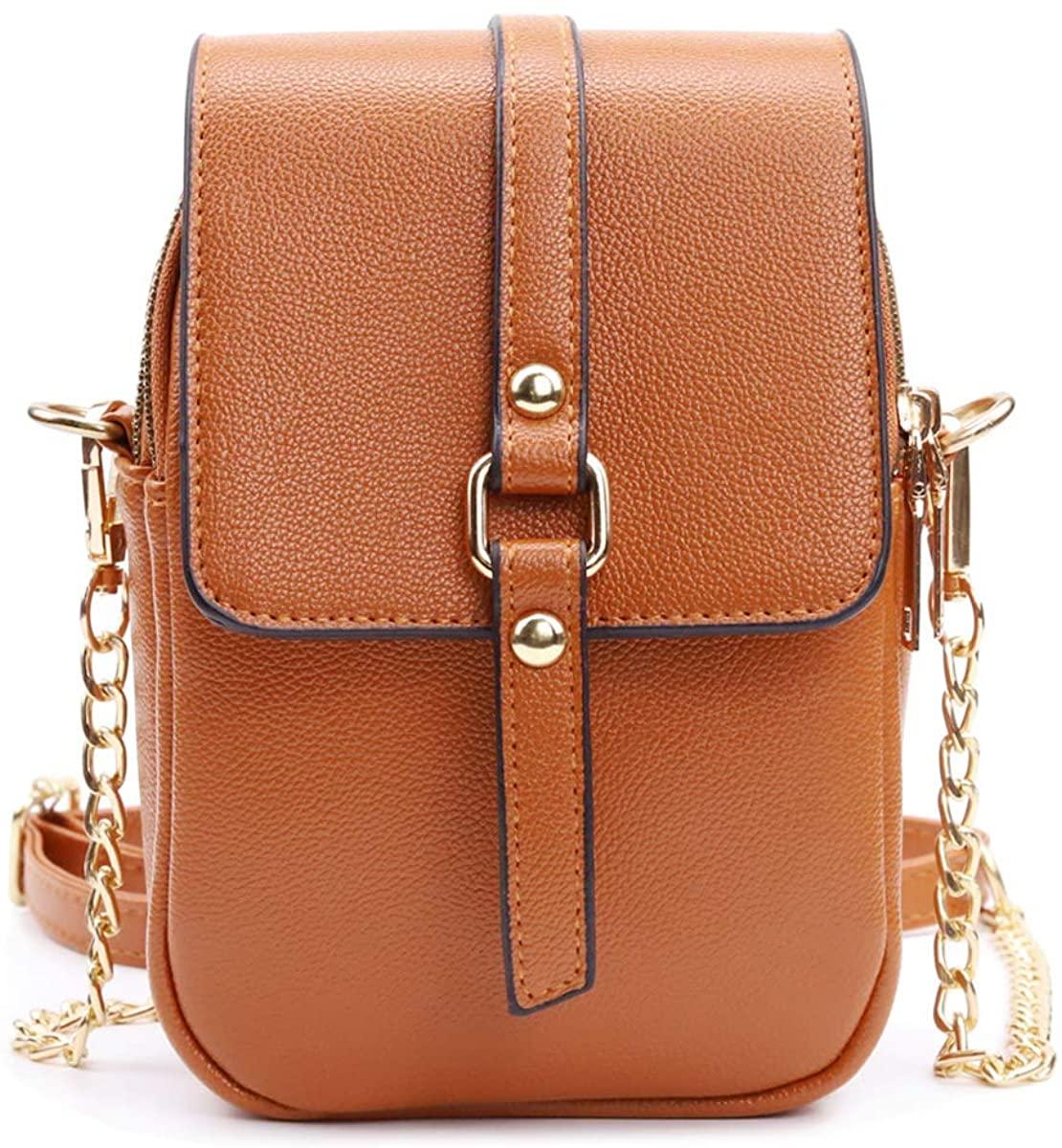 Silkarea Leather Small Crossbody Bags Phone Purse for Women Tassel CellPhone Bag Shoulder Bag Handbag Wallet Pouch