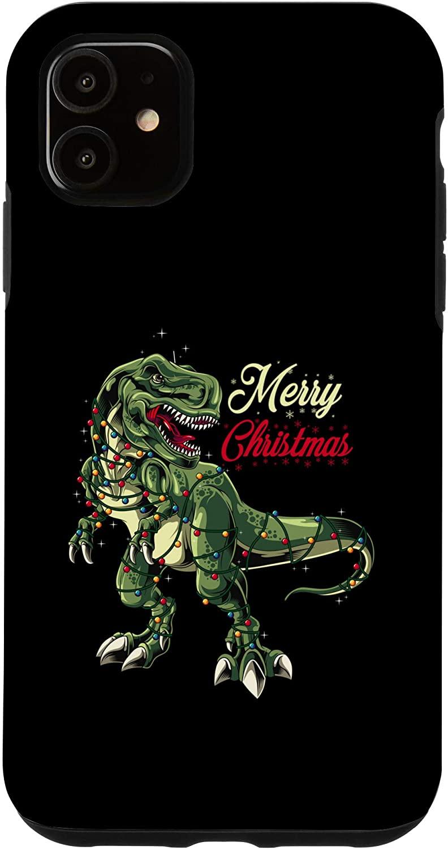 iPhone 11 Christmas Dinosaur Tree Xmas T Rex Case