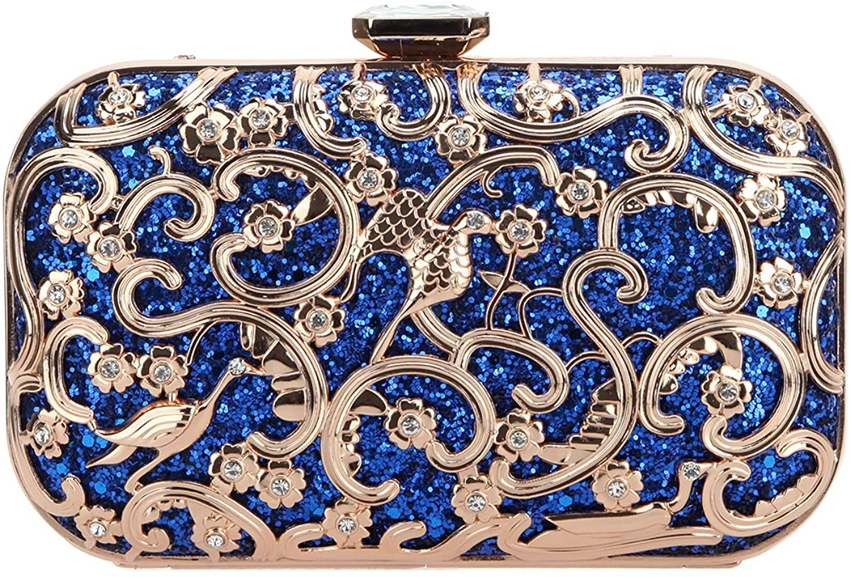 Fawziya Crystal Bird Purse Bling Out Clutch Evening Bags And Clutches For Women