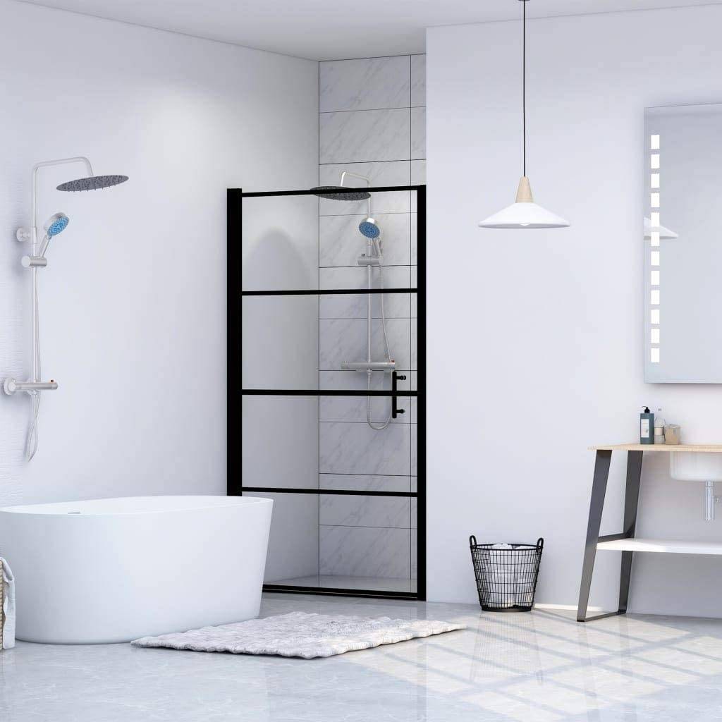 INLIFE Shower Door Tempered Glass 35.8
