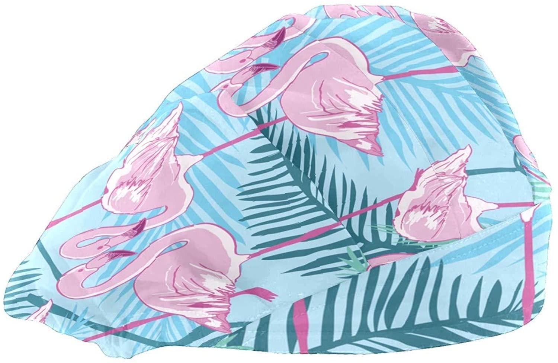 Extra Large Satin Sleep Bonnet Cap for Women & Girls, Wide Band Satin Bonnet Sleeping Night Cap & Hat for Natural Hair, Long Braids Leaf Pink SWAN