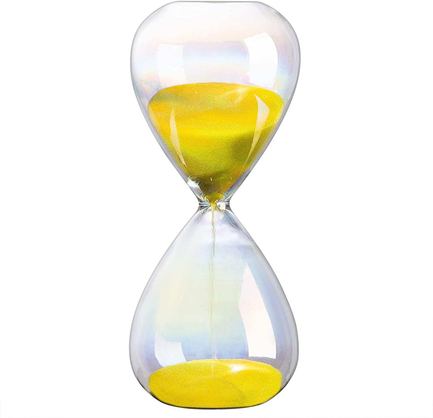 KSMA 3 Minutes Hourglass Sand Timer Transparent Colored Glass,Color Sand - Inspired Glass/Home,Desk, Office Decor(3,5,10,15,30,60 Minutes)