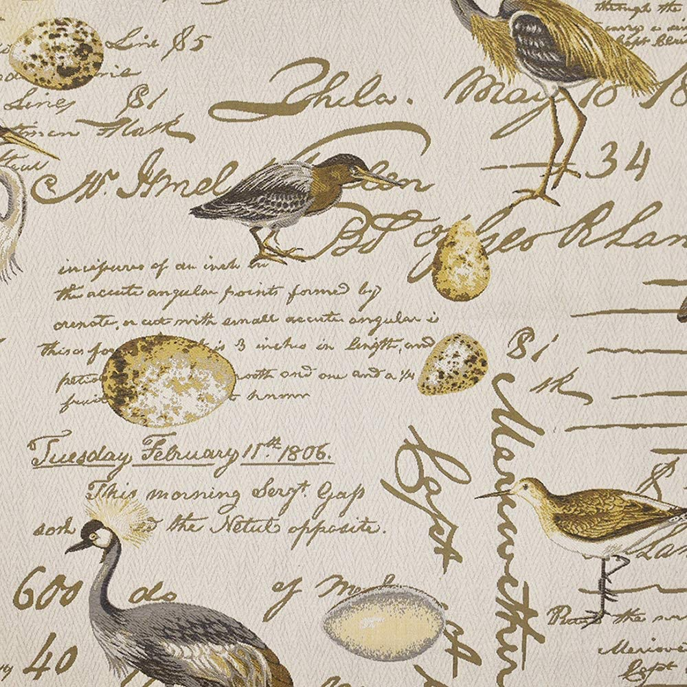 Fabric by The Yard - 100% Polyester Upholstery Sewing Fabrics - Birdsong Seamist Pattern