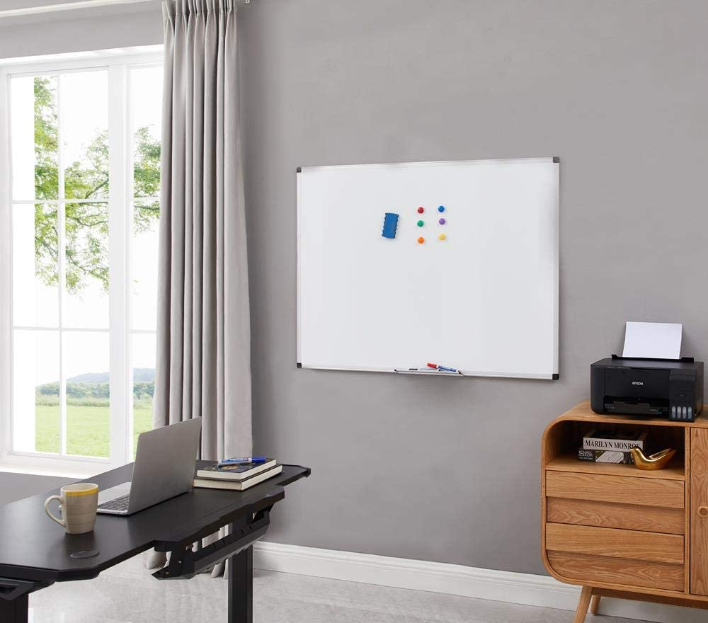 Naomi Home Harper Wall-Mounted Magnetic Dry Erase Whiteboard, Set of 2