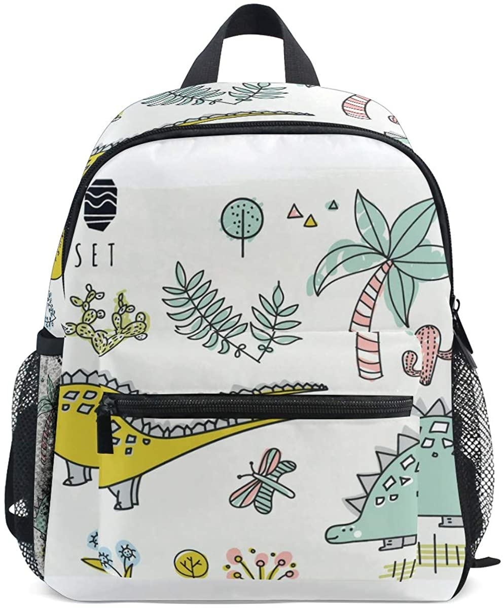 Upgraded Backpack for School Teenagers Girls Boys Set Of Dinosaurs Travel Bag with Chest Buckle and Whistle(m)
