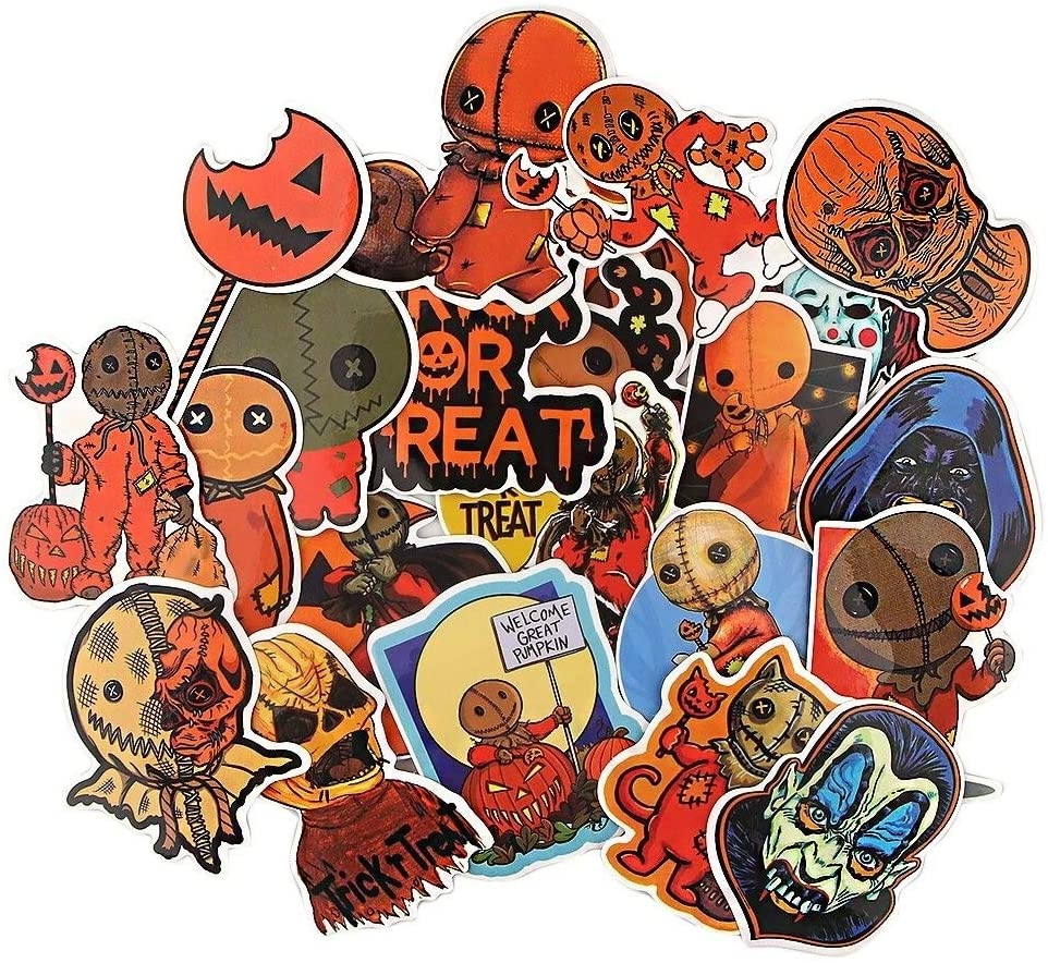 22Pcs/Set Horror Movie Trick 'R Treat Scrapbooking Stickers Decal for Guitar Laptop Luggage Car Fridge Graffiti Sticker