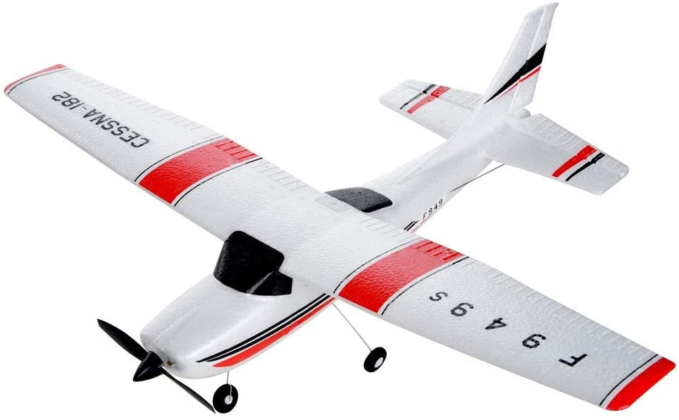 2.4G RC Airplane with Internal Gyro - RTF Glider Composite Material - Electric RC Glider Aircraft for Adults and Kids - Outdoor Sport Toys Birthday Xmas Favor Gifts - Ship from USA