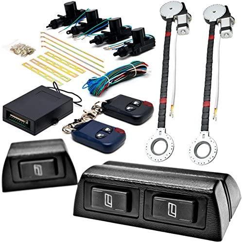 Biltek 2x Door Car Power Window + Keyless Door Unlock Kit Compatible with Audi/Mazda S5 S6 S7 S8 SQ5 626 929 CX-7 Miata
