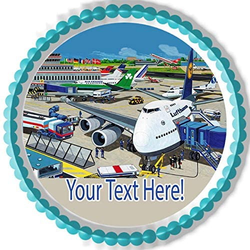 Airport With Planes - Edible Cake Topper - 6