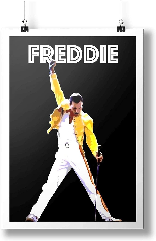 INNOGLEN Freddie Mercury : Queen Singer Art Print A0 A1 A2 A3 A4 Satin Photo Poster p10132h