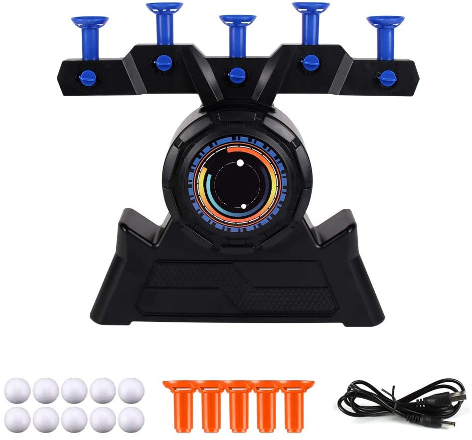 Hzemci Electric Floating Target Toy - Childrens Floating Ball Game Target Set, Targets for Shooting Practice, Shooting Games, Suitable for Children Over 6 Years Old, Without Guns (31.5CMX29CMX7.5CM)