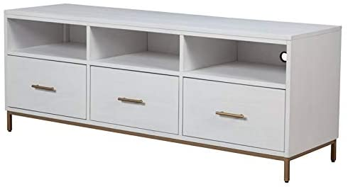 Alpine Furniture Madelyn Wood TV Console in White
