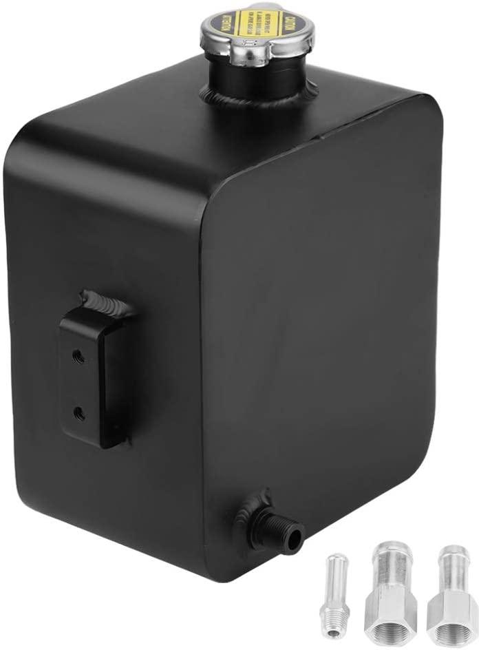 SANON 2.5L Aluminum Radiator Coolant Expansion Overflow Recovery Reservoir Water Tank W/Cap Universal