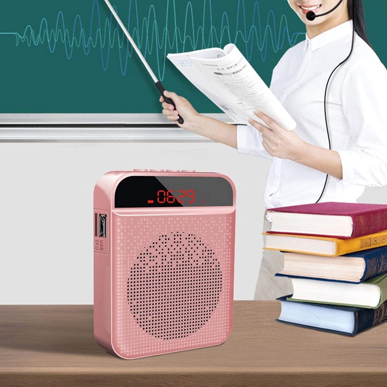 Voice Amplifier for Teachers Portable Bluetooth Voice Amplifier Speaker Waterproof Wireless Microphone Headset Amplifier with 3000mAh Battery for Teachers, Classroom, Elderly