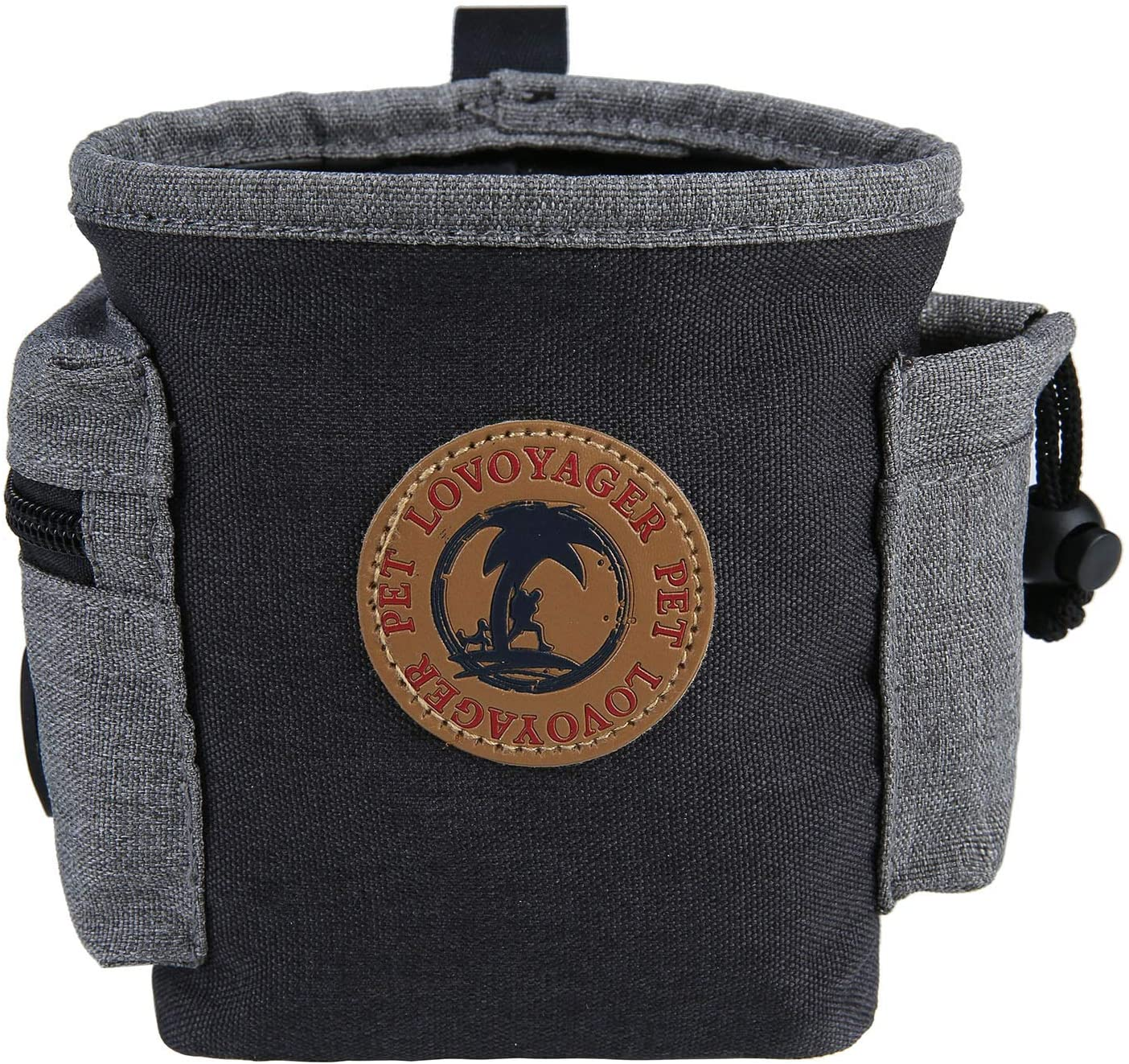 EVANCARY Treat Pouch, Dog Treat Bag for Training Small to Large Dogs Built-in Poop Bag Dispenser
