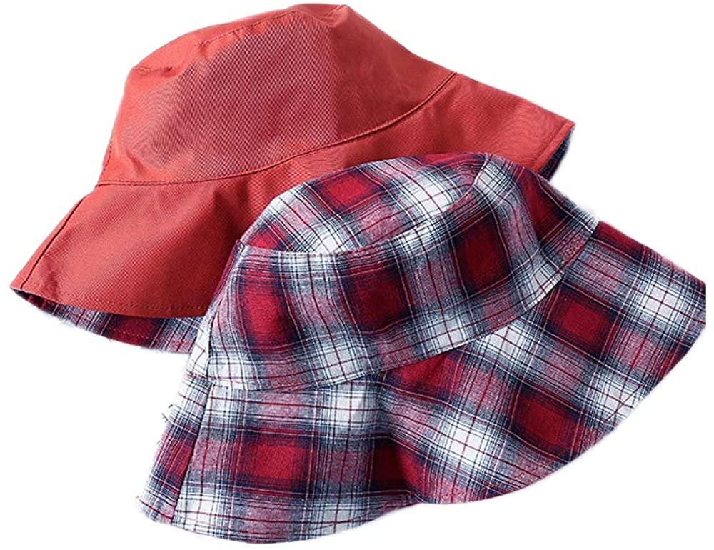 SINLOOG Cotton Bucket Hat, Unisex Fashion Fisherman Hat Travel Beach Sun Cap