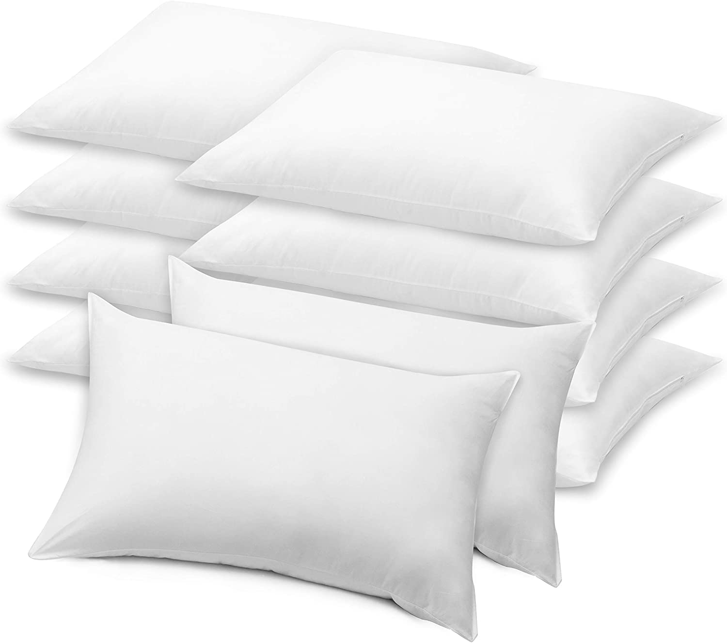 LB LAURA BENASSE LIVE THE DESIGN Elite Bed Pillows Queen Size Set of 10, Hotel Pillows for Sleeping 10 Pack, Hypoallergenic Down Alternative Microfiber Soft Plush Washable Pillow Inserts