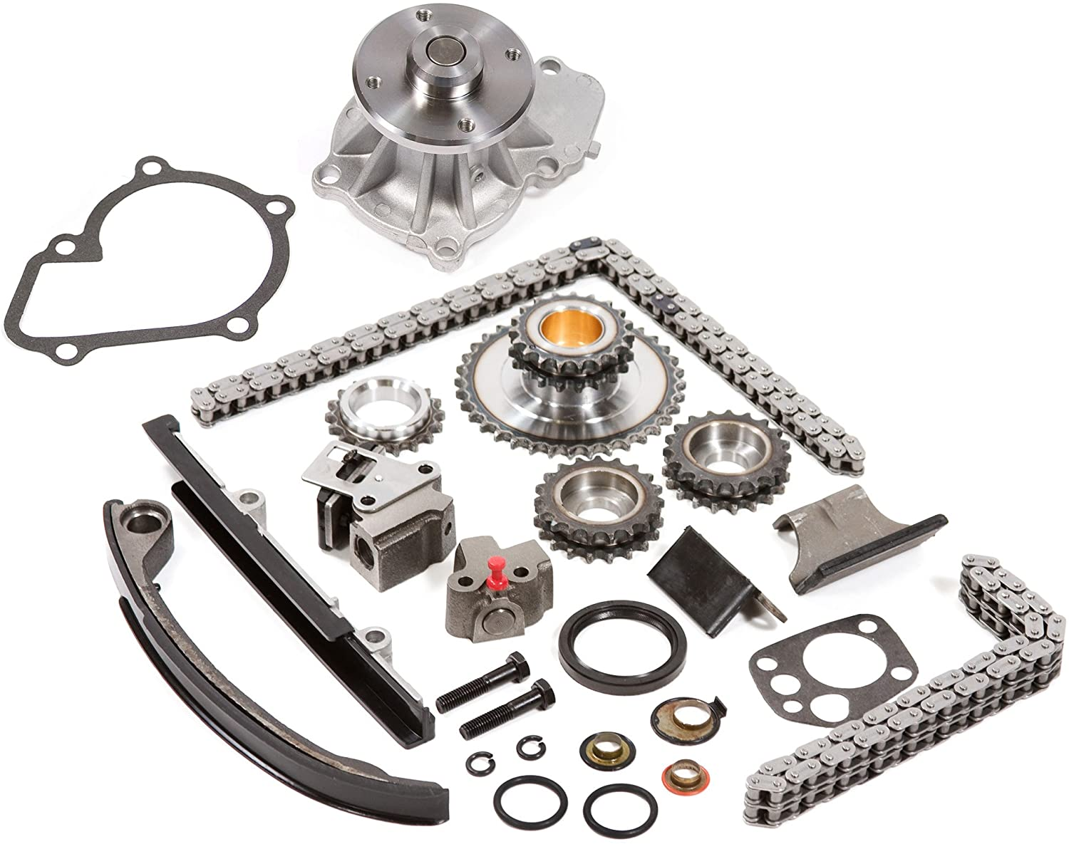 Compatible With 91-98 Nissan 2.4 DOHC 16V KA24DE Timing Chain Kit Water Pump