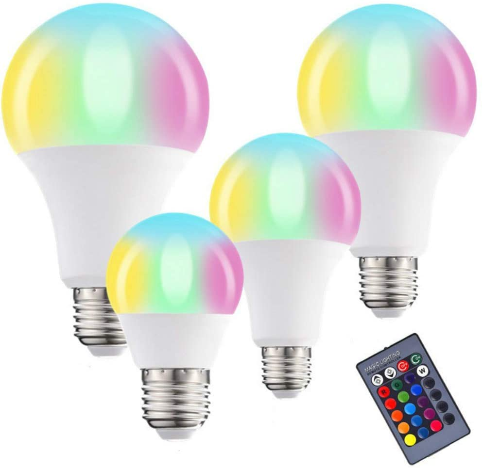 Color-Changing Remote Control Bulb Light Led Colorful RGB Bulb Color Bulb (A60,C)