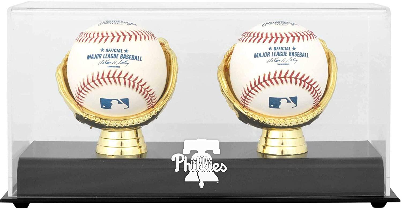 Philadelphia Phillies Gold Glove Double Baseball 2019 Logo Display Case - Baseball Free Standing Display Cases