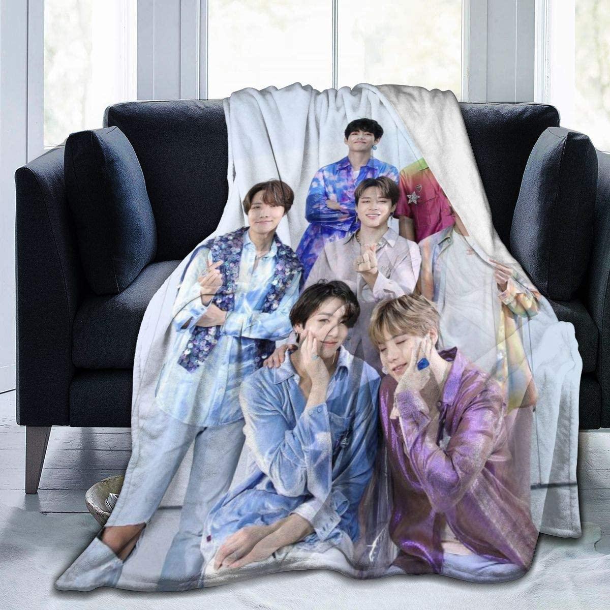 HOJJP Jimin J-Hope Ultra-Soft Micro Cozy Plush Sofa Throw Blanket Lightweight Bed Blanket 50x40 Inch
